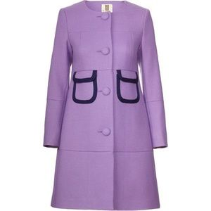 ISO Wool Twill Bound Pocket Coat by Orla Kiely